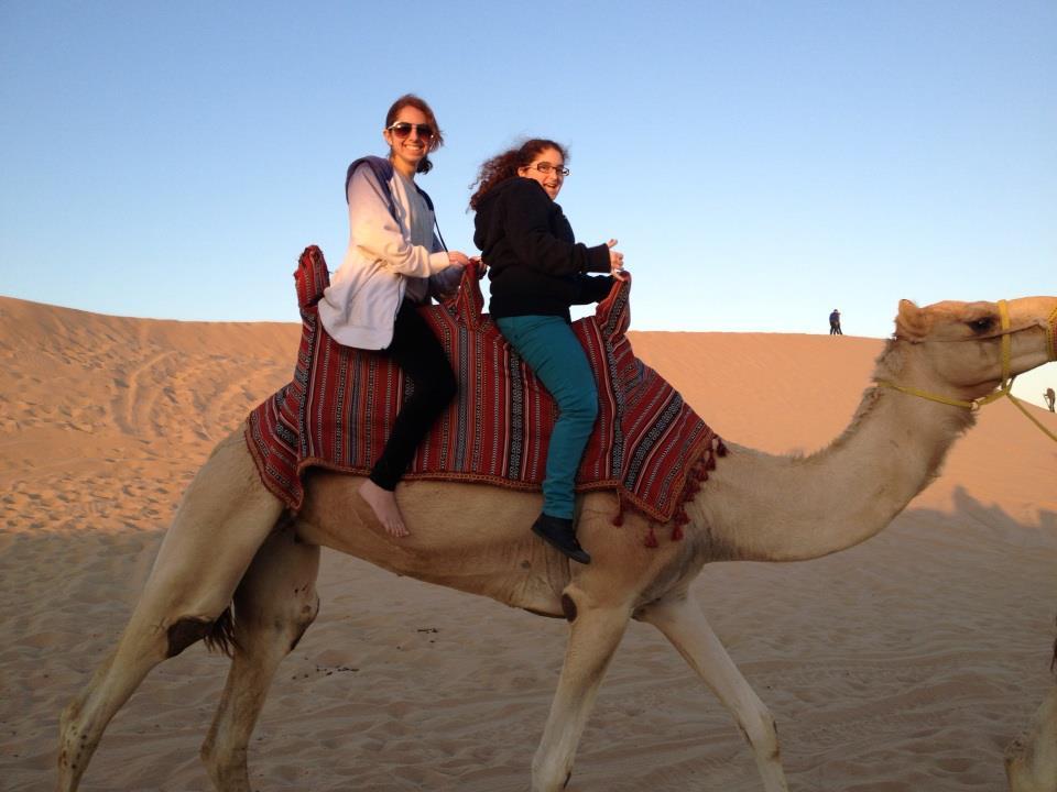 camel riding girlz