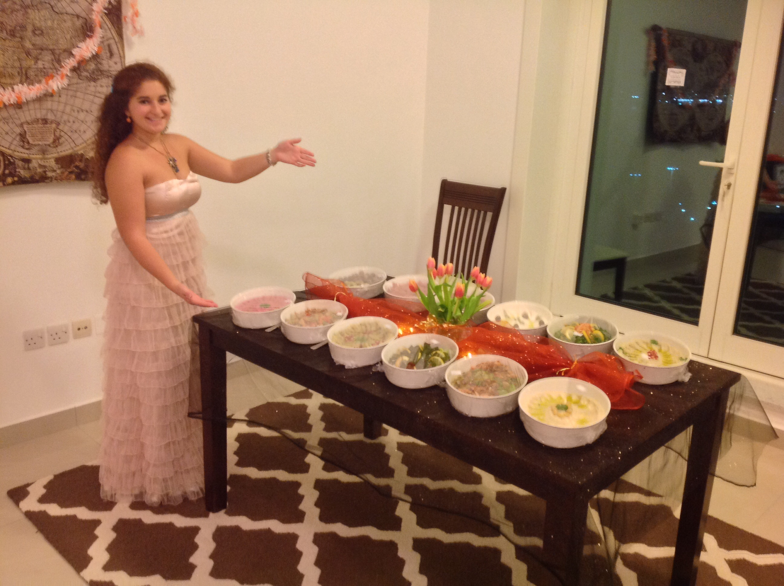 the food table!