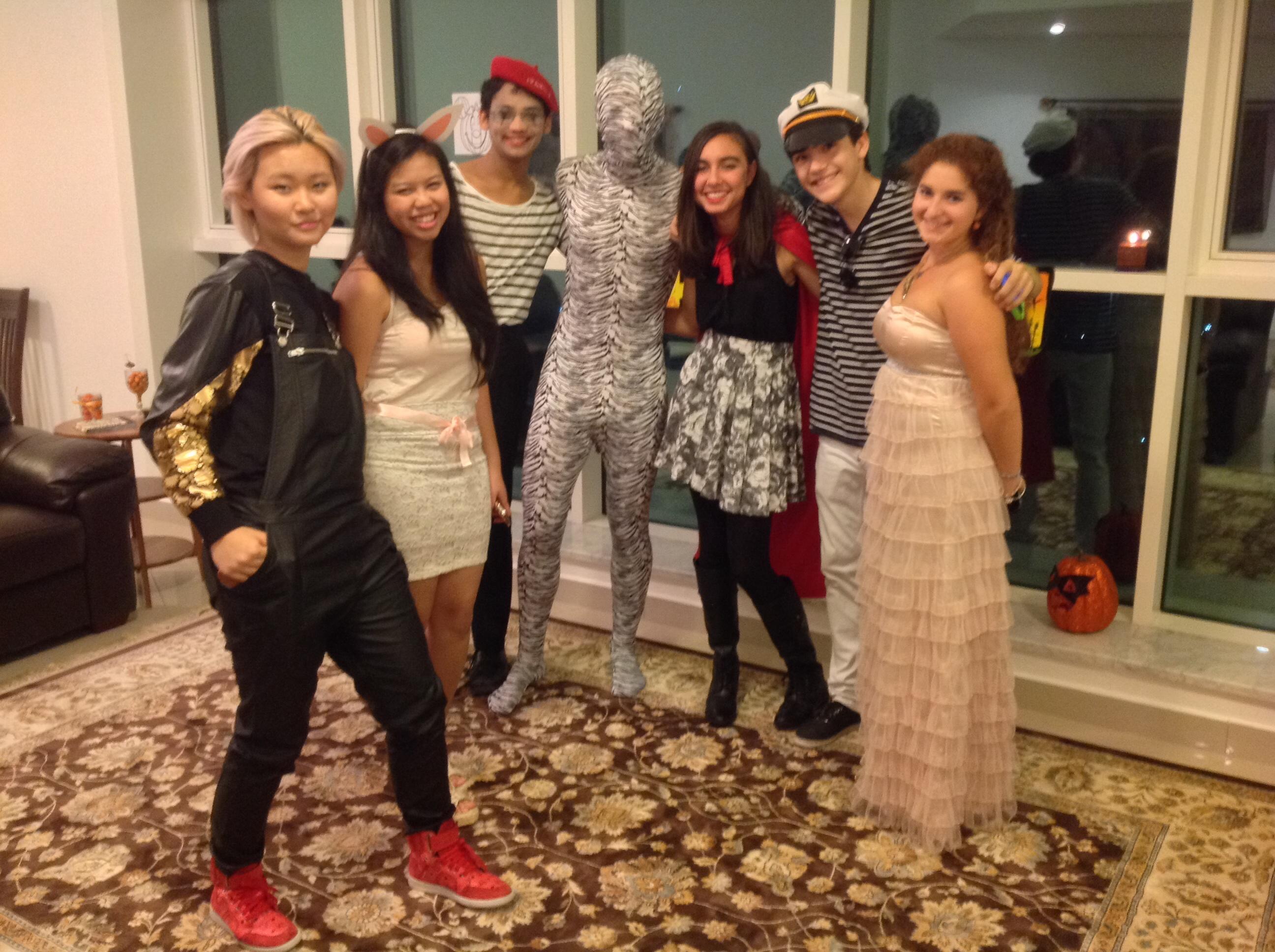 Tara's friends, in costume!