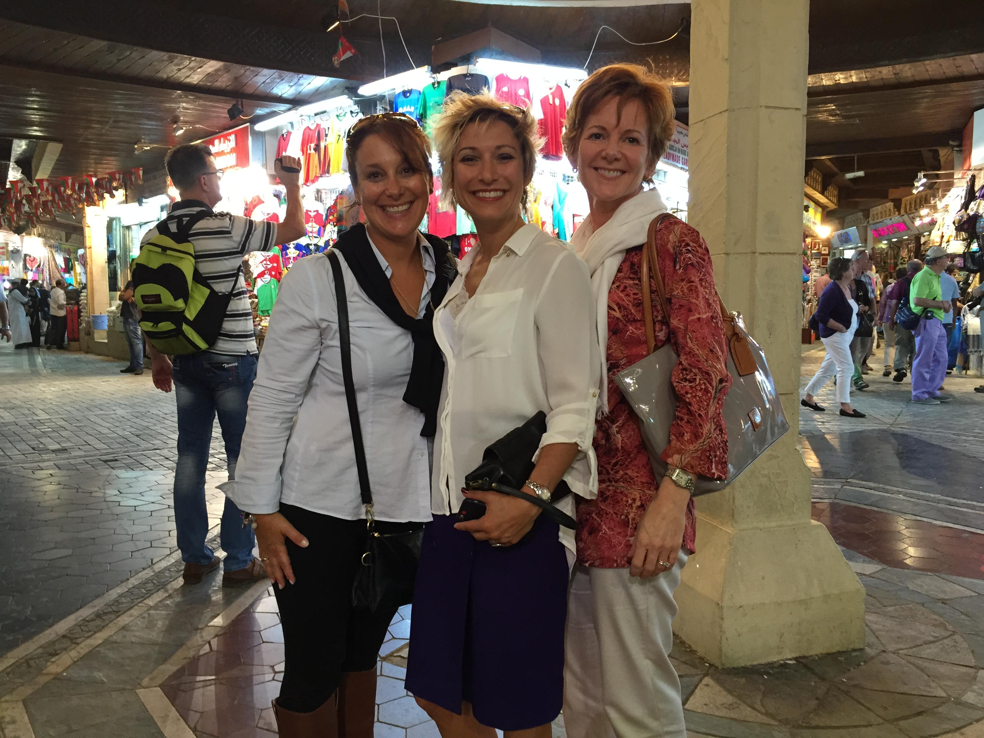 Denise, Melissa & Leslie inside the Oman souq