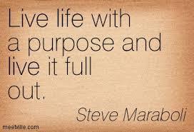 Live life w: purpose