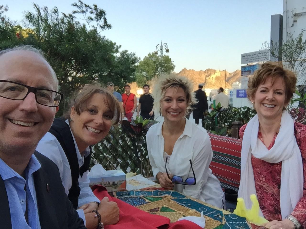 Dinner in Oman ~ Mark, Denise, Melissa & Leslie