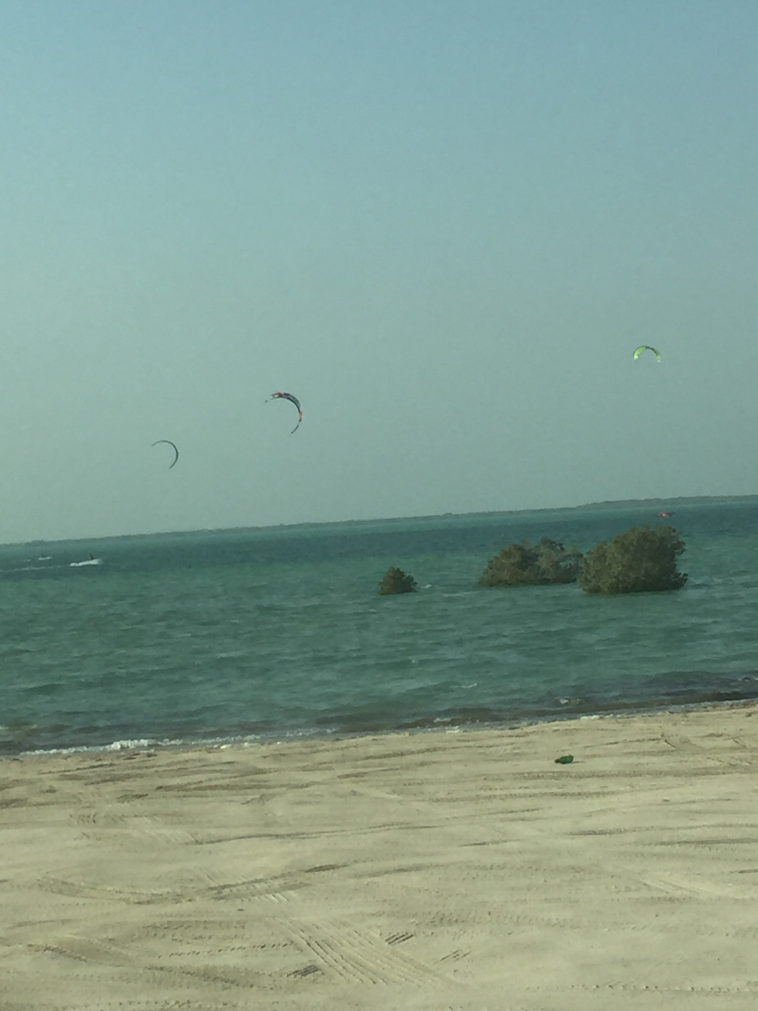 Kite surfing beach on Yas Island