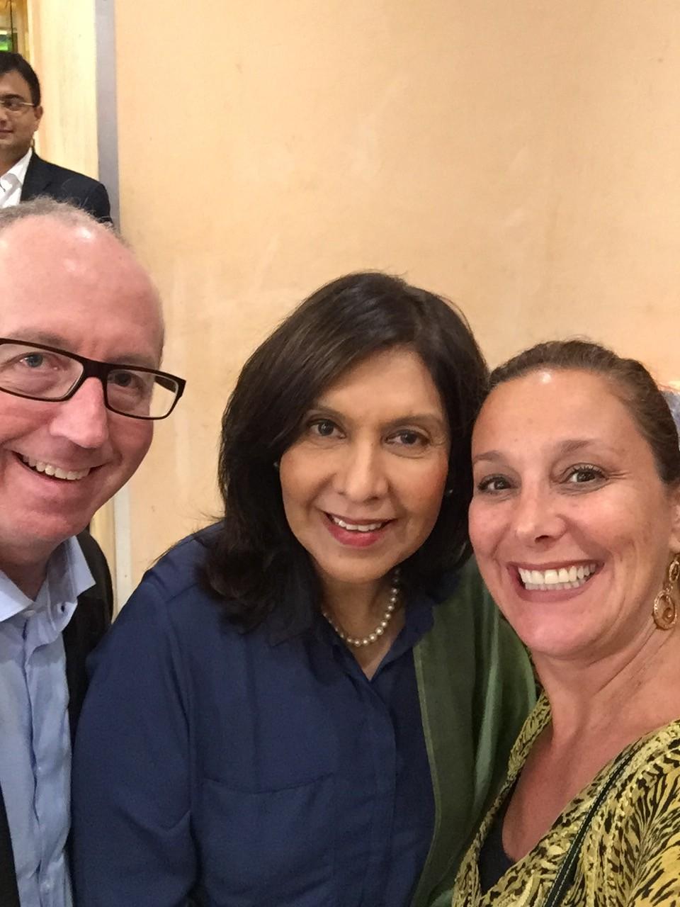 Mark, Geeta & me