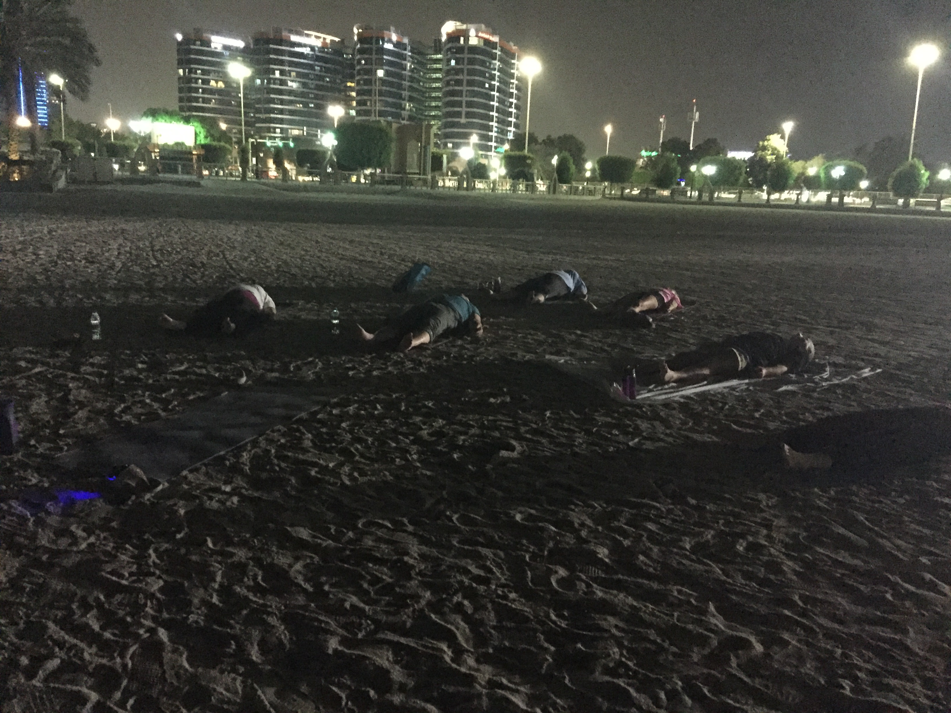 Savasana on the beach