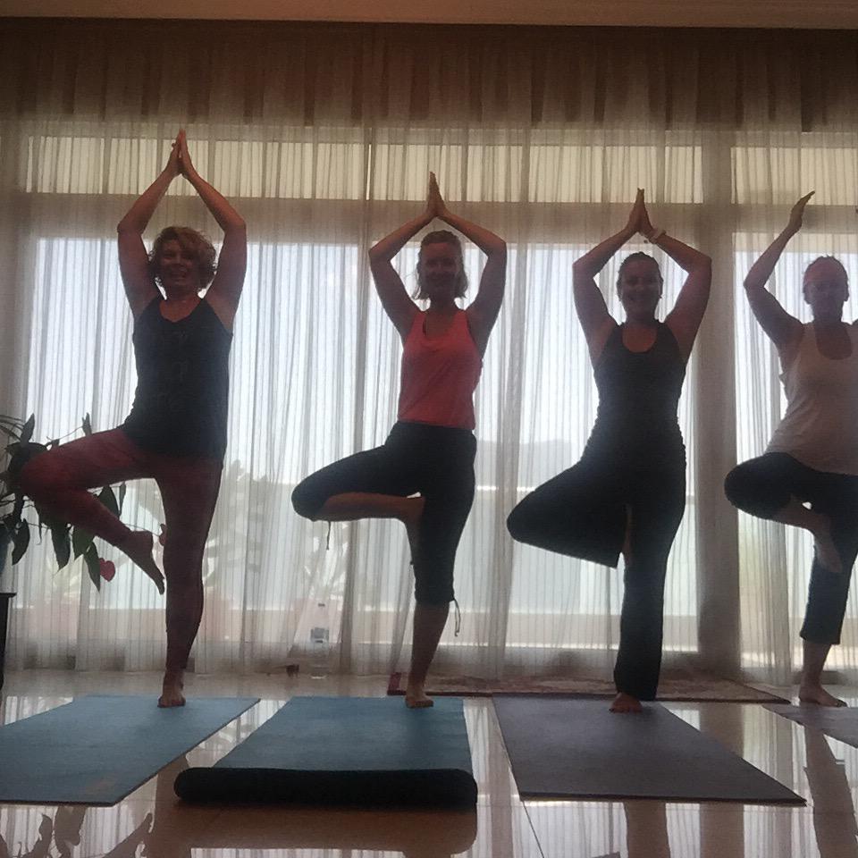 Intl yoga day trees