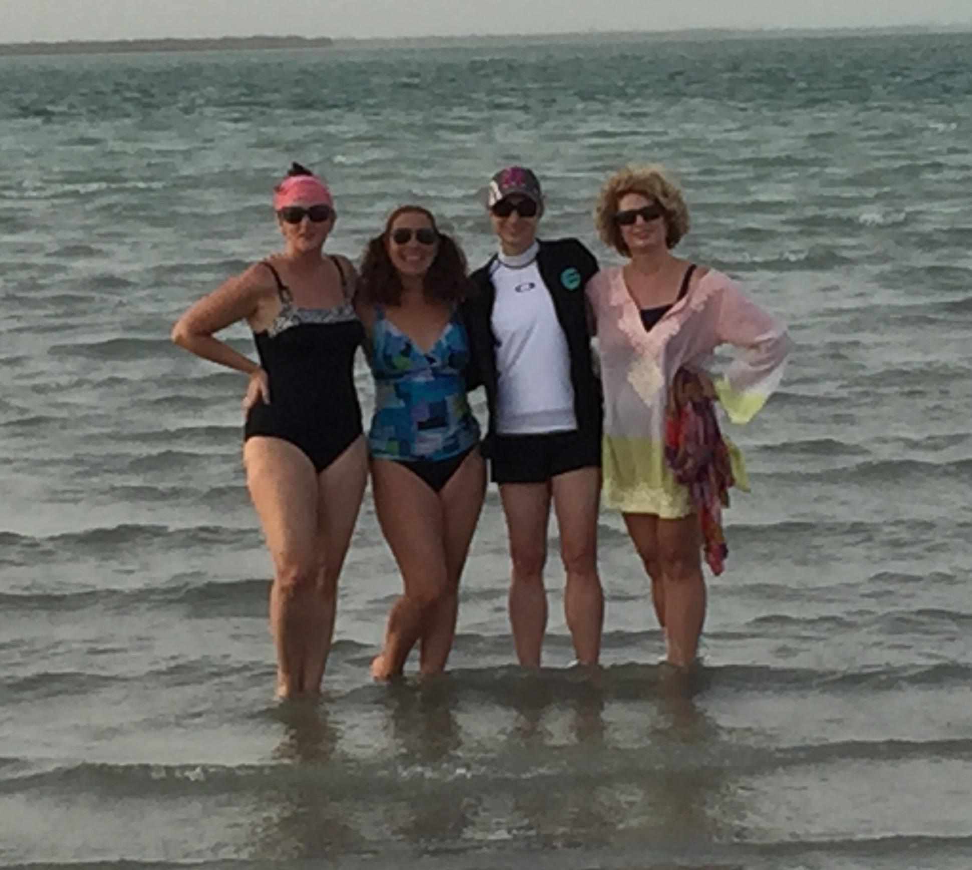 My Texas girlfriends at Yas Kite Beach, Abu Dhabi
